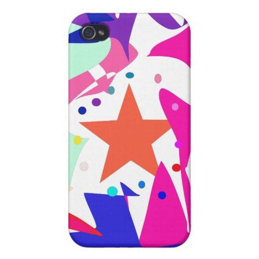 Kundenspezifische Hintergrund-Farborange Stern iPhone 4/4S Case