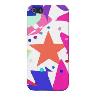 Kundenspezifische Hintergrund-Farborange Stern iPhone 5 Schutzhülle