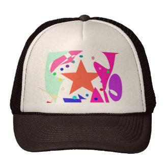 Kundenspezifische Hintergrund-Farborange Stern Retrokultmützen