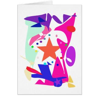 Kundenspezifische Hintergrund-Farborange Stern Karte