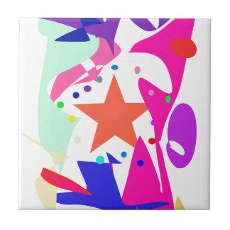 Kundenspezifische Hintergrund-Farborange Stern Kleine Quadratische Fliese