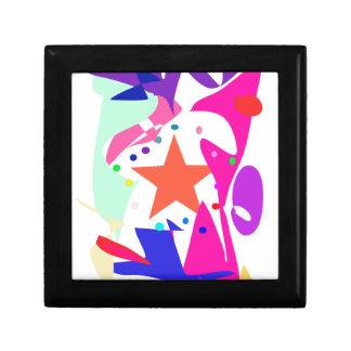 Kundenspezifische Hintergrund-Farborange Stern Kleine Quadratische Schatulle