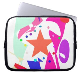 Kundenspezifische Hintergrund-Farborange Stern Laptop Schutzhülle
