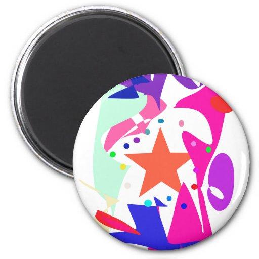 Kundenspezifische Hintergrund-Farborange Stern Magnete