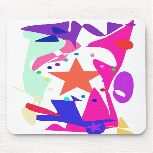 Kundenspezifische Hintergrund-Farborange Stern Mauspads