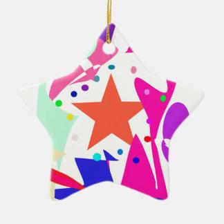 Kundenspezifische Hintergrund-Farborange Stern Keramik Stern-Ornament