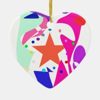 Kundenspezifische Hintergrund-Farborange Stern Weihnachtsbaum Ornament