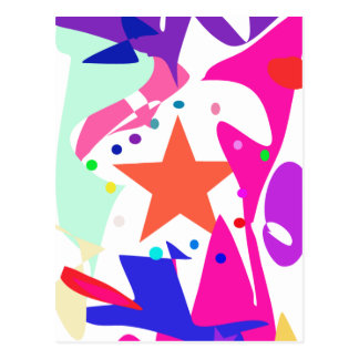 Kundenspezifische Hintergrund-Farborange Stern Postkarten