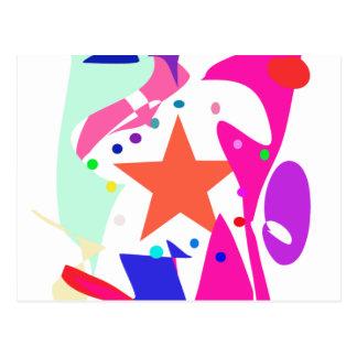 Kundenspezifische Hintergrund-Farborange Stern Postkarte