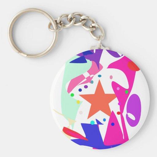 Kundenspezifische Hintergrund-Farborange Stern Schlüsselband