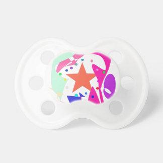 Kundenspezifische Hintergrund-Farborange Stern Baby Schnuller