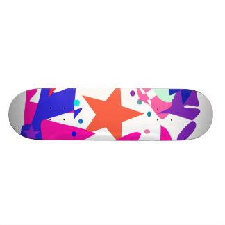 Kundenspezifische Hintergrund-Farborange Stern Individuelle Decks
