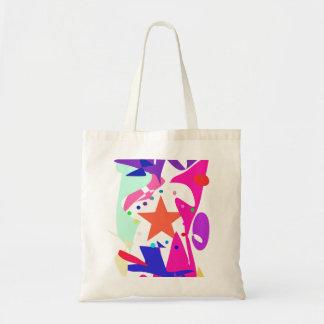 Kundenspezifische Hintergrund-Farborange Stern Einkaufstaschen