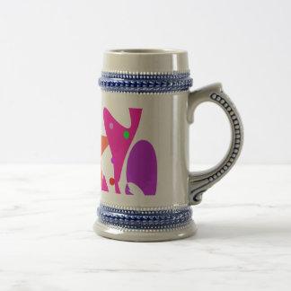 Kundenspezifische Hintergrund-Farborange Stern Tee Tasse