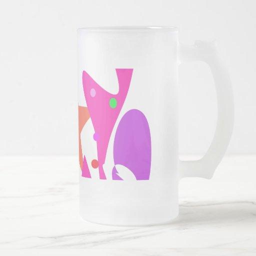 Kundenspezifische Hintergrund-Farborange Stern Teehaferl