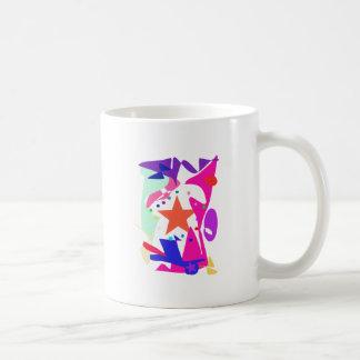 Kundenspezifische Hintergrund-Farborange Stern Tasse