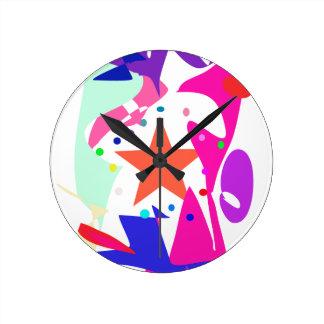 Kundenspezifische Hintergrund-Farborange Stern Uhren