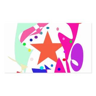 Kundenspezifische Hintergrund-Farborange Stern Visitenkartenvorlage