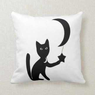 kundenspezifische Hintergrundfarbe Halloween-Katze Kissen