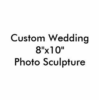 """Kundenspezifische Hochzeit 8"""""""" Skulptur des Fotostatuen"""