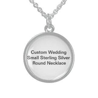 Kundenspezifische Hochzeit kleine Sterlingsilber Halsketten