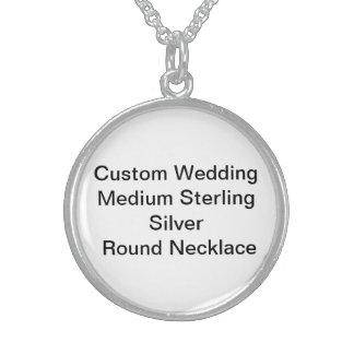 Kundenspezifische Hochzeit mittleres Sterlingsilber Halskette