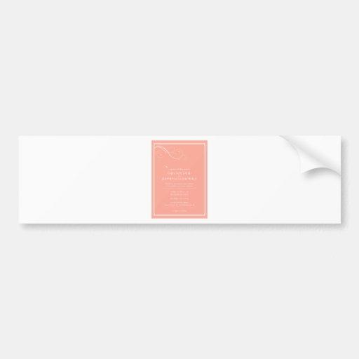 Kundenspezifische Hochzeits-Einladungen Auto Aufkleber
