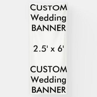 Kundenspezifische Hochzeits-Fahne 2,5' x 6' Banner