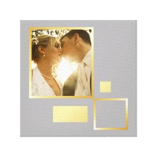 kundenspezifische Hochzeits-Fotoschablone, Leinwand Druck