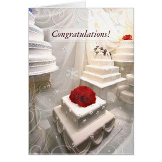 Kundenspezifische Hochzeits-Glückwunsch-Gruß-Karte