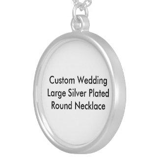 Kundenspezifische Hochzeits-großes Silber Selbst Gestalteter Schmuck
