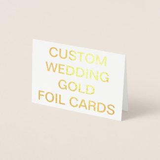 Kundenspezifische Hochzeits-mini personalisierte Folienkarte