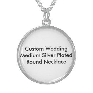 Kundenspezifische Hochzeits-mittleres Silber Sterlingsilber Halsketten