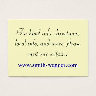Kundenspezifische Hochzeits-Webseiten-Karten Visitenkarte