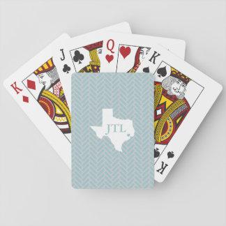 Kundenspezifische Initialen-Spielkarten Houstons Spielkarten