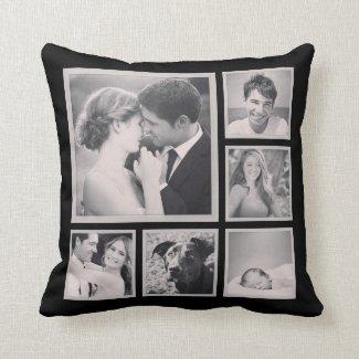 Kundenspezifische Instagram Foto-Collage Kissen