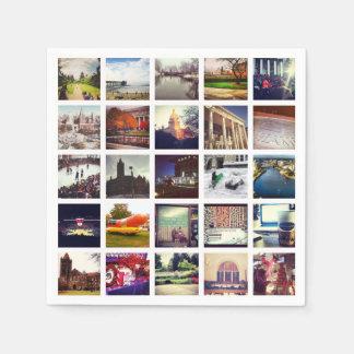 Kundenspezifische Instagram Papierserviette