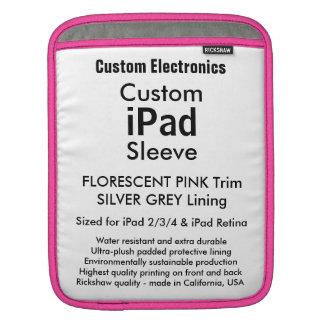 Kundenspezifische iPad Hülse - Vertikale (Rosa u. iPad Sleeves