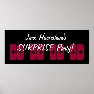 Kundenspezifische Jahr-Überraschungs-Geburtstags-P Plakat