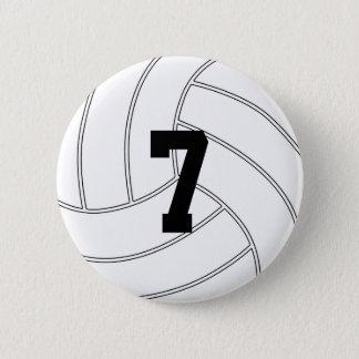 Kundenspezifische Jersey-Zahl-rundes Runder Button 5,7 Cm