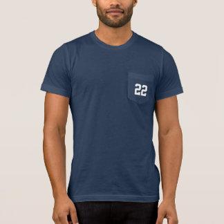 Kundenspezifische Jersey-Zahl trägt Vati zur Schau T-Shirt