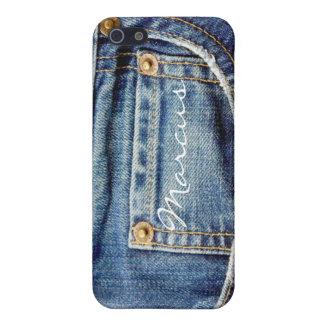 Kundenspezifische Jungen nennen Denim-Blue Jeans Schutzhülle Fürs iPhone 5