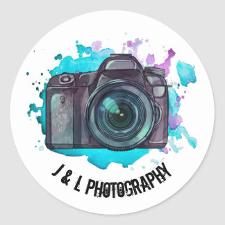 Kundenspezifische Kamera-Fotograf-Aufkleber Runder Aufkleber