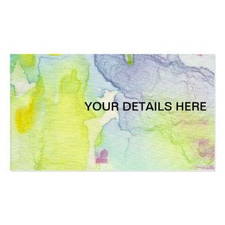 Kundenspezifische Karte des künstlerischen Visitenkartenvorlagen