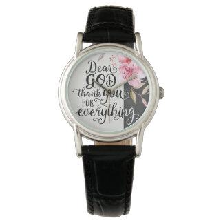 Kundenspezifische klassische schwarze lederne Uhr