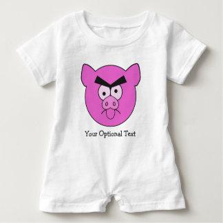 Kundenspezifische Kleidung des wütenden Schweins - Baby Strampler