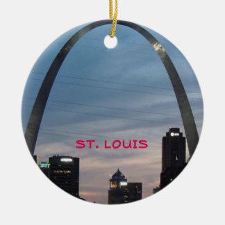 Kundenspezifische Kreis-Verzierung St. Louis Keramik Ornament