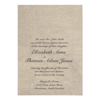 Kundenspezifische Leinwand-Hochzeits-Einladung 12,7 X 17,8 Cm Einladungskarte