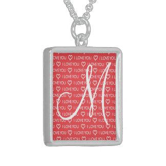 Kundenspezifische Liebe der Monogramm-Initialen-I Halskette Mit Quadratischem Anhänger