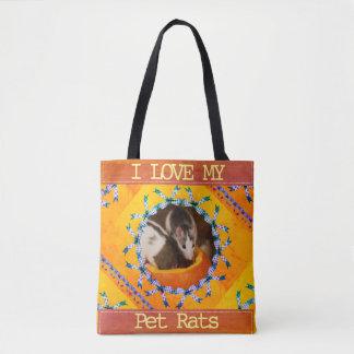 Kundenspezifische Liebe des Ratten-Foto-I meine Tasche